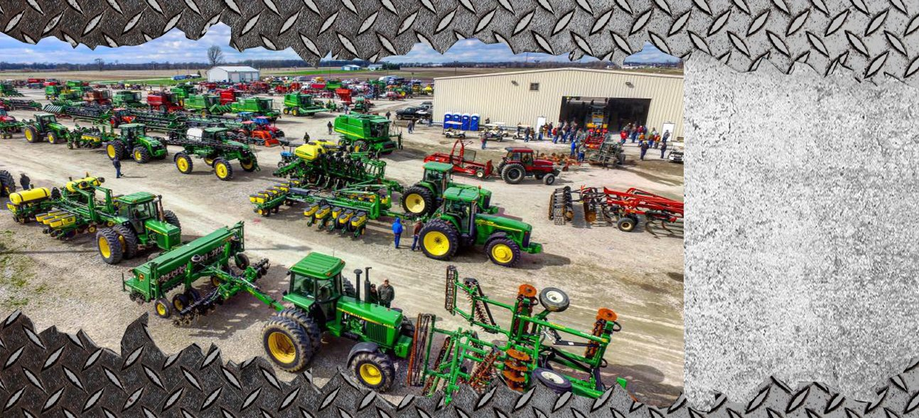 quality used farm equipment, industrial equipment, and other heavy equipment for sale at our public auction